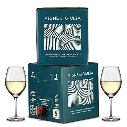 Bag in Box vino Sauvignon 5L + Bag in Box vino Chardonnay 5L - Vigne di Giulia