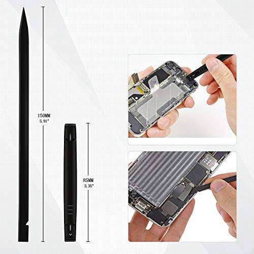 Kingsdun 5in1 Pentalobe Screwdriver Set,Star 5-Pointed Pentalobe P2 P5 P6 Screwdriver with 2 Opening Pry Tools for iPhone and Macbook Repair