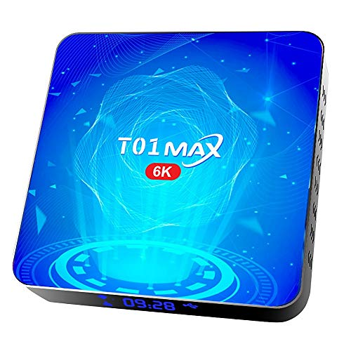 SNOWINSPRING T01 MAX Caja de TV Inteligente H616 Dual WiFi Android 10.0 Reproductor de Red Decodificador 4G ROM 64G TV Box 6K Reproductor HD Enchufe de la UE