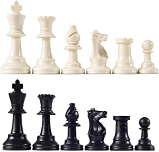 Chess Pieces Complete Chessmen Chess International Word Chess Game Entertainment Black&White 64MM
