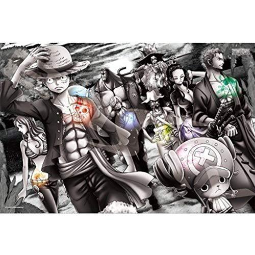 Lfixhssf Japanse Een Stuk Puzzel, 1000P Kleur Kunststof Zwart En Wit Papier Cartoon Anime Decoratieve Schilderij Lfixhssf Papieren versie
