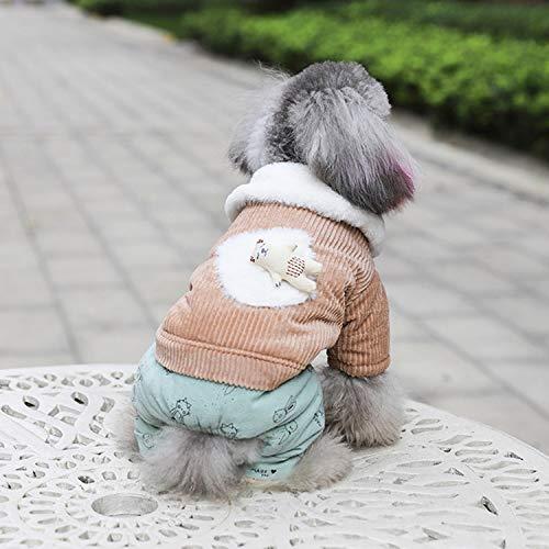 Bospyaf mantel van katoen, meer dikte velours, met bontkraag, zacht en comfortabel, herfst en winter