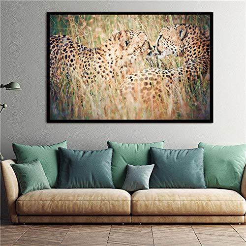Muur canvas schilderij dier herten foto's voor woonkamer woondecoratie frameloze posters en prints olieverf-frameloze 50X75CM