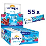 SunRype Fruit Snacks Apple Wildberry Fruit to Go Strips (Case of 55)