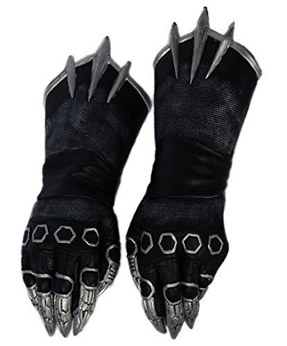 Herren Schwarz Klaue Handschuhe Cosplay Erwachsene Kühlen Kostüm Halloween Abendkleid Zubehör Prop