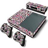 AXDNH Xbox One Juego Completo De Pegatinas De Piel De PVC para Consola Y 2 Controladores Película Protectora De Piel - Patrón Cuadrado Colorido,0140