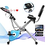 ANCHEER Exercise Bike Fitness Bike, Foldable F-Bike, Indoor Cycling Bike at Home, Fitness
