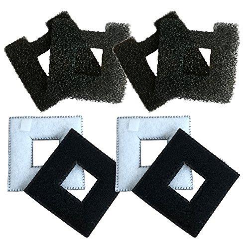 Finest-Filters 4 cartuchos de filtro Fluval Chi y 4 almohadillas de espuma para acuario.