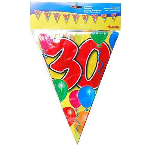 Udo Schmidt Kleurrijke verjaardag wimpel slinger 30 jaar party decoratie verjaardag