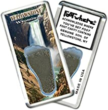 product image for Yellowstone, WY FootWhere Souvenir Fridge Magnet. Made in USA (YW205 - Lower Falls)