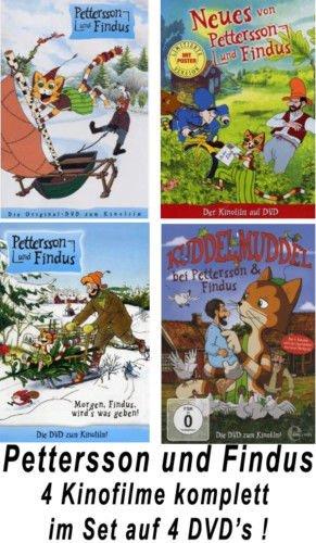 Pettersson und Findus - 4 Kinofilme im Set - Deutsche Originalware [4 DVDs]