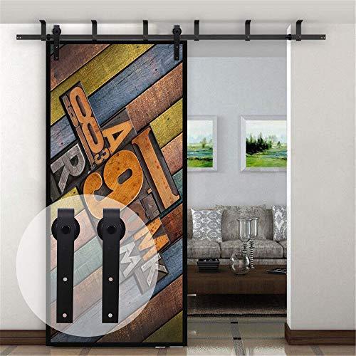 10FT/3M Deckenhalterung Schiebetür für Scheunentore, L-förmiges Halterungssystem, Passend für 60 cm breite, eintürige Verkleidung