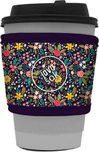 Java Sok Reusable Hot Coffee Cup Sleeve for Hot Coffee and Tea from Starbucks Coffee, McDonalds, Dunkin Donuts, More (English Garden Picnic)