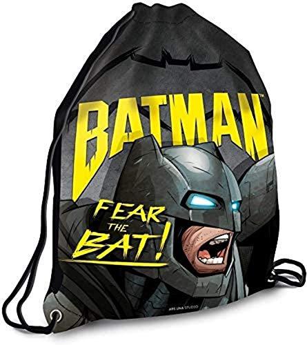 Bavaria-Home-style-Collection kompatibel mit Batman Turnbeutel schwarz Fear the Bat