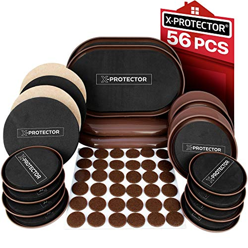 Furniture Sliders X-PROTECTOR - Furniture Moving Kit 56 PCS - 20...