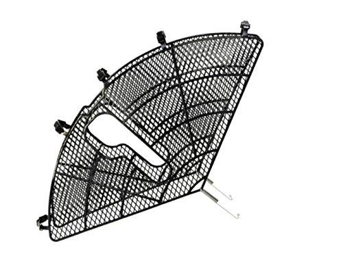 P4B | 1 Set Mantelschoner für Fahrräder | für 26 und 28 Zoll | Fahrrad-Schutzblech | mit Universalbefestigungskit | aus Kunststoff | in Schwarz