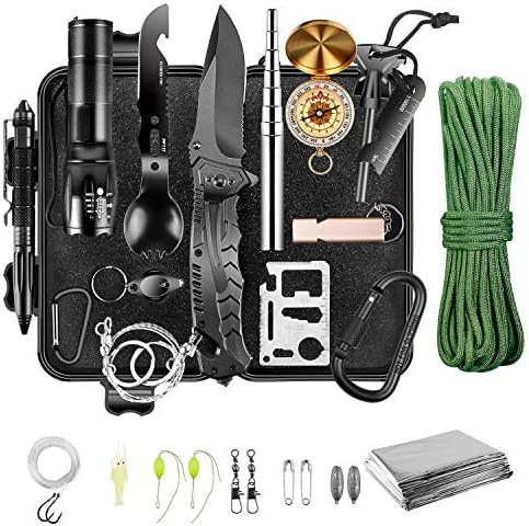 Emergency Survival Kit Survival Gear and Equipment Valentines Day Birthday Gifts for Men Dad product image