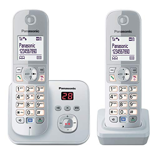 Panasonic KX-TG6822 Telefono Digitale Cordless, Argento [Germania]