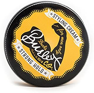 Buck's Burley Hair Cream for Men - Styling & Forming with Strong Hold & Matte Finish - Sandalwood Scent (3.0 oz)