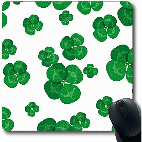 Patrick Clover Leaf Day Mousepad Celtic Cultura Motivo Floreale Naturale 39 Computadora de Escritorio Mousepad, Gomma Antiscivolo 25X30CM