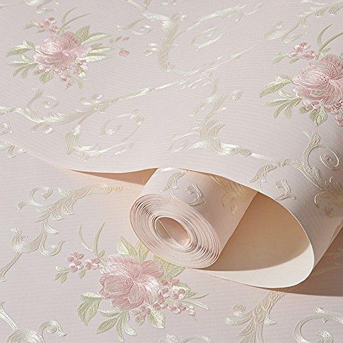 non-tissé Fleur décorative Contact papier autocollant de luxe Fleurs en relief Peel et bâton papier peint murale pour salon Chambre à coucher Crafts Décoration murale 52,9 cm par 9,8 Pieds