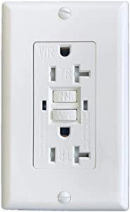 20 A Tamper Weather Resistant(TR/WR) GFCI LED outlet w/Wallplate UL (1)