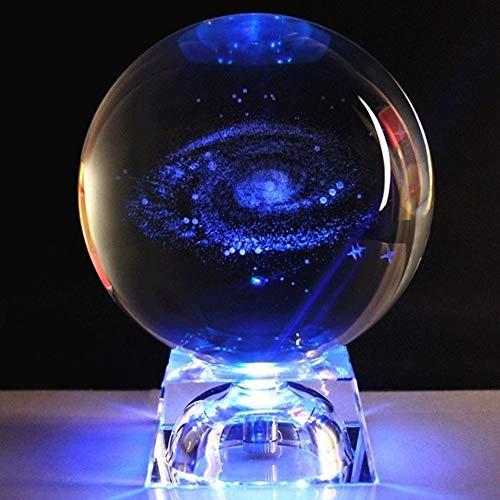 Cakunmik LED-Sturmglas Wetterwetter-Wunschkugel Bunte, Kristallglas-Turm-Vorhersage Flasche Kristall Geschenk Dekoration,D