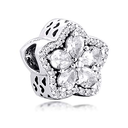 PANDOCCI 2020 Inverno Natale scintillante pavè di fiocco di neve perline argento 925 fai da te adatto per braccialetti Pandora originali gioielli moda