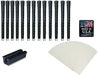 Tacki-Mac Golf Grips Standard Size Black Pro Tour Wrap Grip Kit (13 grips, tape, instructions)