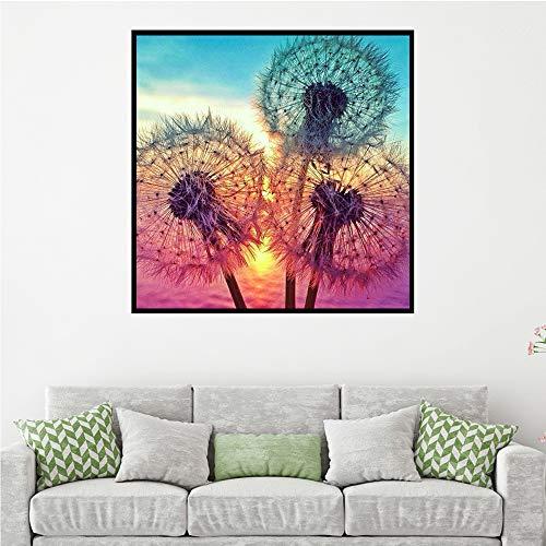 WSNDGWS Moderne wandhangkunst, palmboom, huisdecoratie, olieverf, geen fotolijst 20x20cm A1