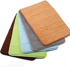 ESUPPORT Bath Mats Soft Absorbent Memory Foam Entrance Rug Carpet 19.6 x 31.4 Non Slip Doormat,Coffee