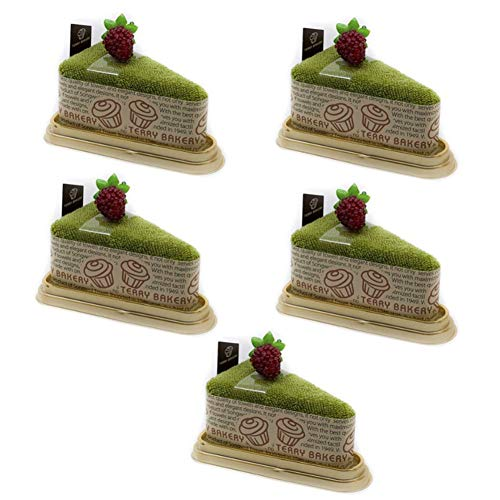 Songwol Towel Triangular Piece Cake Shape Cotton Hand Towels Cakes Wedding Favors (Green, 5)