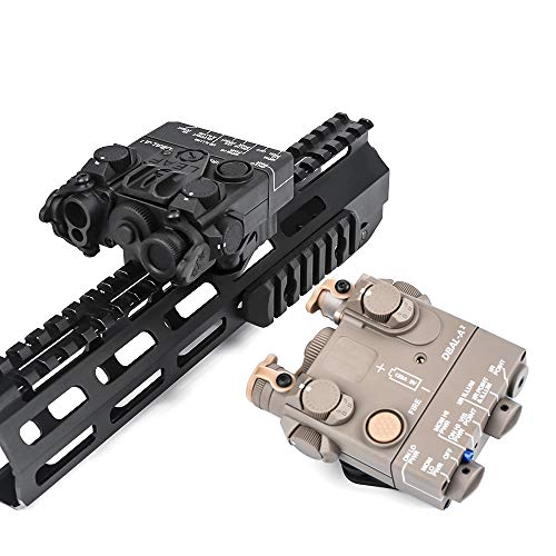 Tactical Plastic DBAL-A2 Dummy Model Laser Sight Light DBAL A2 Indicator No Function NO Switch with QD Mount Fit Picatinny Rail (BK)