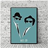 WXUEH Blues Brothers Filmplakat Leinwanddruck Wandkunst