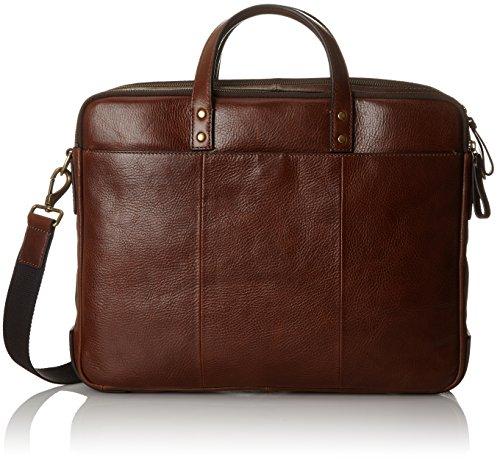Fossil Herren Herrentasche- Defender Briefcase Laptop Tasche Braun (Cognac)