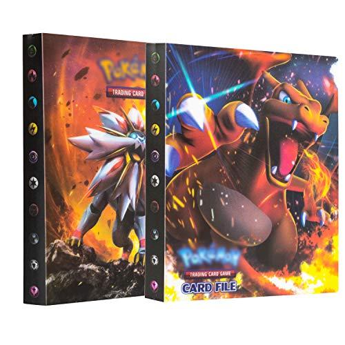 erlliyeu Juego de 2 tarjetas coleccionables, álbum de recortes, tarjetas, la mejor protección para coleccionistas de Pokémon GX EX, 60 páginas, puede contener hasta 480 tarjetas