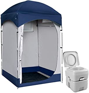 WEISSHORN Portable Pop up Tent Beach Toilet Shower Dressing Changing Room Ourdoor Shelter