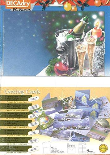 Decadry Kerstmis & Champagne Thema Kaarten Maak uw eigen kerstkaarten