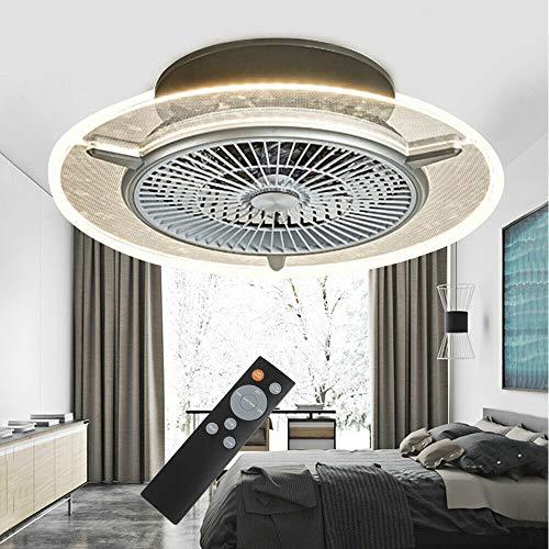Ventilador de techo de 22 pulgadas con iluminación, 48 W, luz LED, regulable, coordinación temporal con iluminación, regulable, mando a distancia