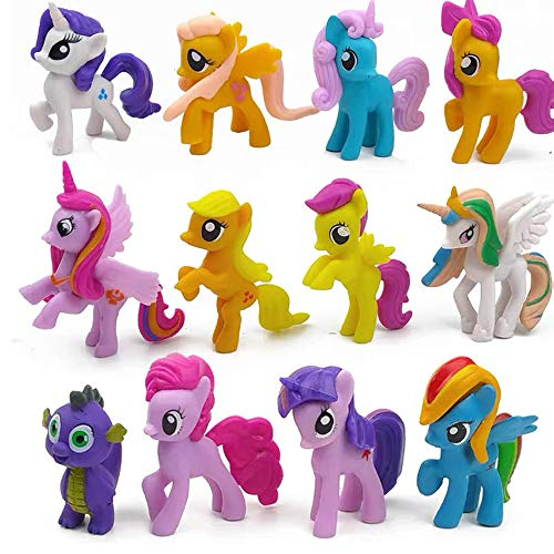 My Little Pony The Movie 12 Pack – 2.5-Inch Glitter Unicorn Toys