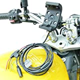Audio/Power Cable Motorcycle Bike U-Bolt Handlebar Mount for Garmin Montana
