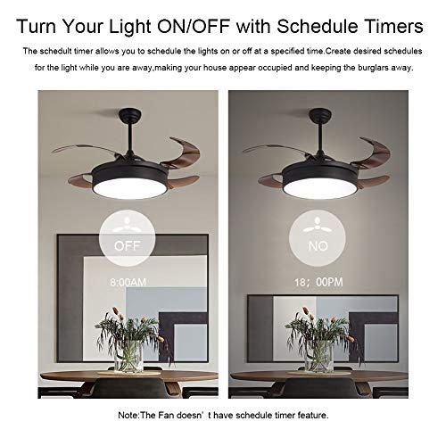 Ceiling Fan Remote Control Kit, WI-FI Smart Fan Control Timing Wireless Control with Amazon Alexa