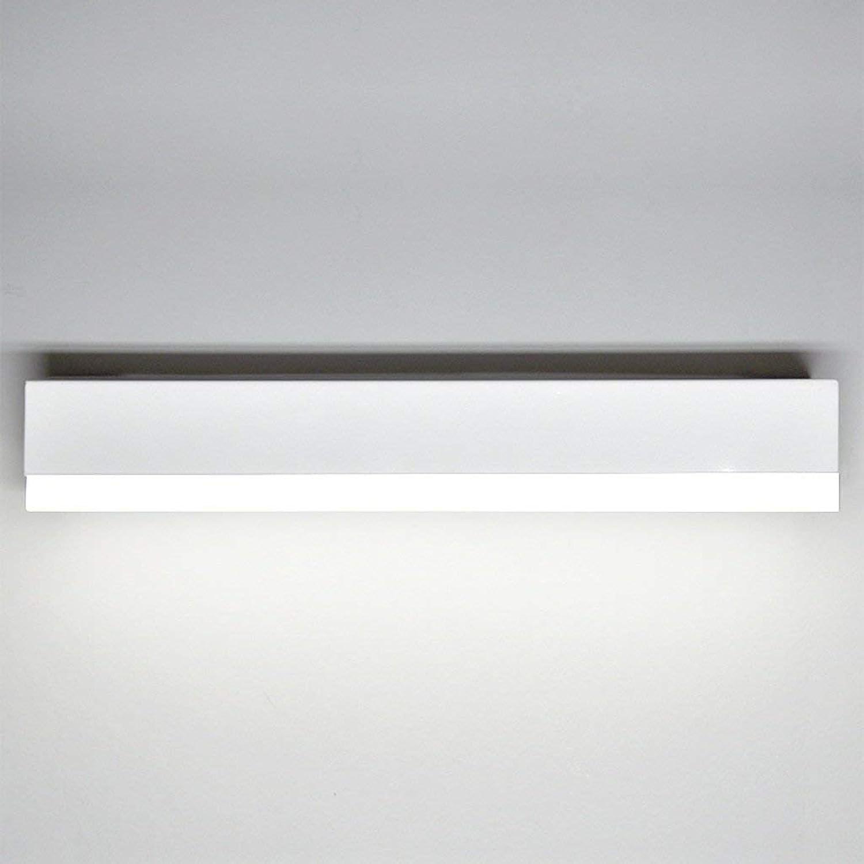 BJYG Bad Wandleuchten Schminkspiegelleuchten Wandleuchten LED-Spiegelfrontleuchte  Farbe Alu + Acryl, Wei (Gre  41CMx7CMx5.5CM   12W)