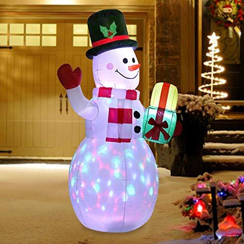 Longrep Bonhomme De Neige Gonflable De Noël Modèle De Bonhomme De Neige Gonflable De Noël Bonhomme De Neige Lumineux Extérieur LED Décoration De Noël Gonflable De Bonhomme De Neige