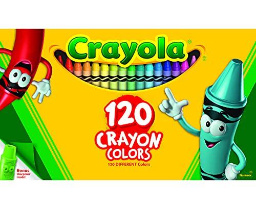 Crayola Classic Color Crayons, Tuck Box, 120 Colors (526920)