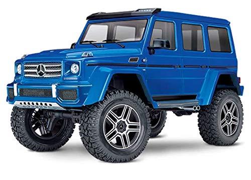 Traxxas 82096-4-BLUU TRX-4 Scale and Trail Crawler Mercedes Benz 500 4x4 Replica with Remote Control, Blue