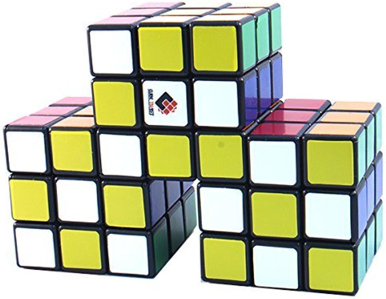 CubeTwist Siamese 3  3x3x3 Black Triple Conjoint Puzzle Cube Twisty Puzzle 3x3 by CubeTwist
