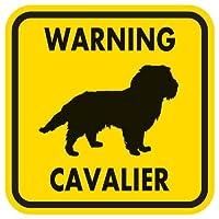 WARNING CAVALIER マグネットサイン:キャバリア(イエロー)Mサイズ