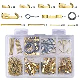Bligo 200 PCS Picture Hanging Kit Includes Hooks, Nails, Sawtooth Hangers, Screw Eyes, Picture Hanging Wire, Hanging Hardware for Painting and Poster Frames