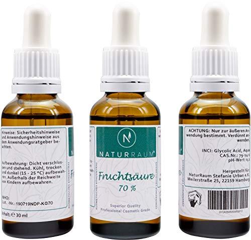 AHA Glycolsäure Peeling - Fruchtsäurepeeling 5-70% - pH 0,1-30ml - Professionelles chemisches Gesichtspeeling bei Hautunreinheiten Falten Akne - Alpha Hydroxy Acid
